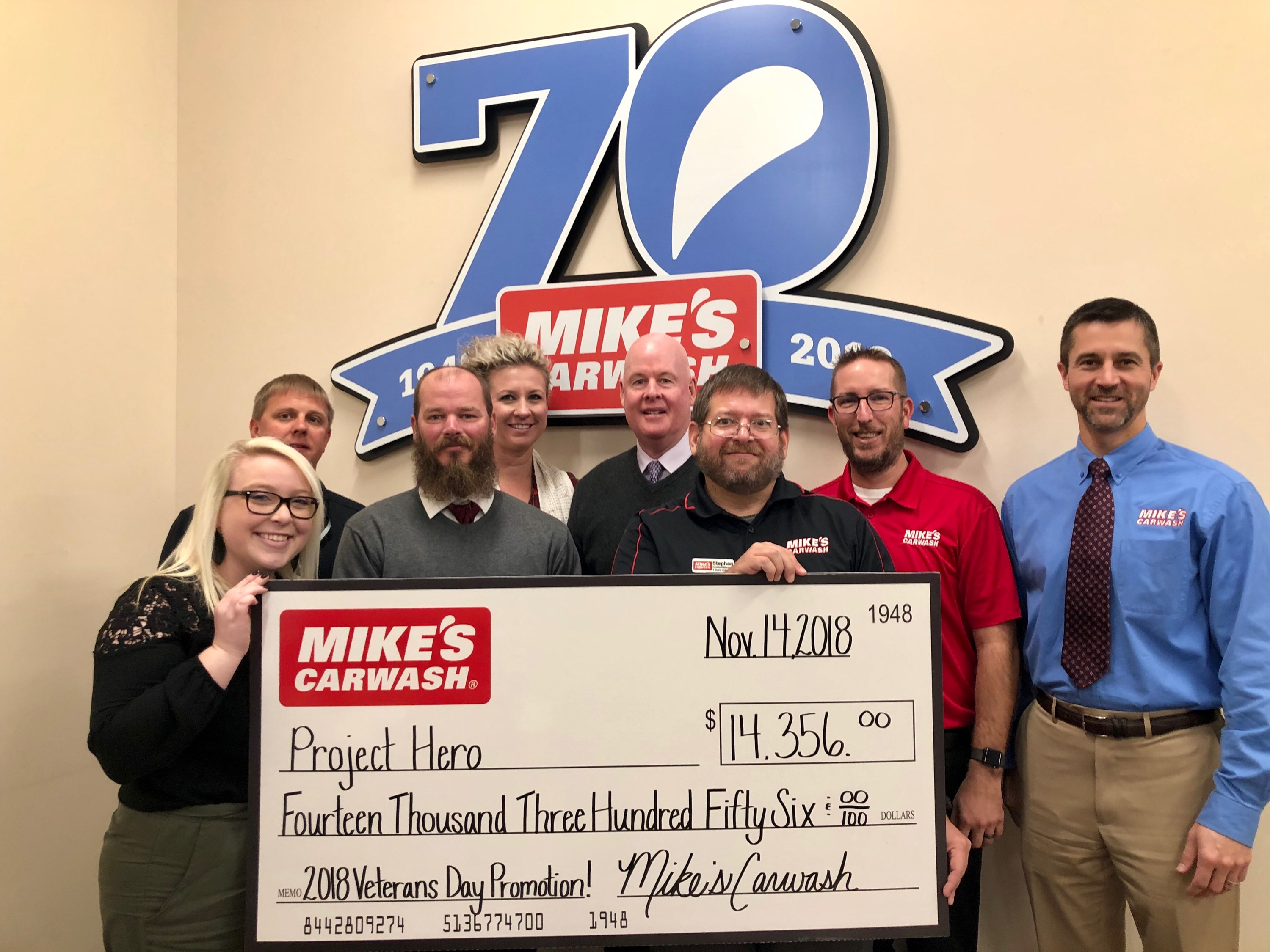 Mike's Carwash Raises $14K for Project Hero