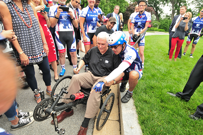 Mike Pence Sends Project Hero Riders Off on 10th Memorial Day Ride for Veterans