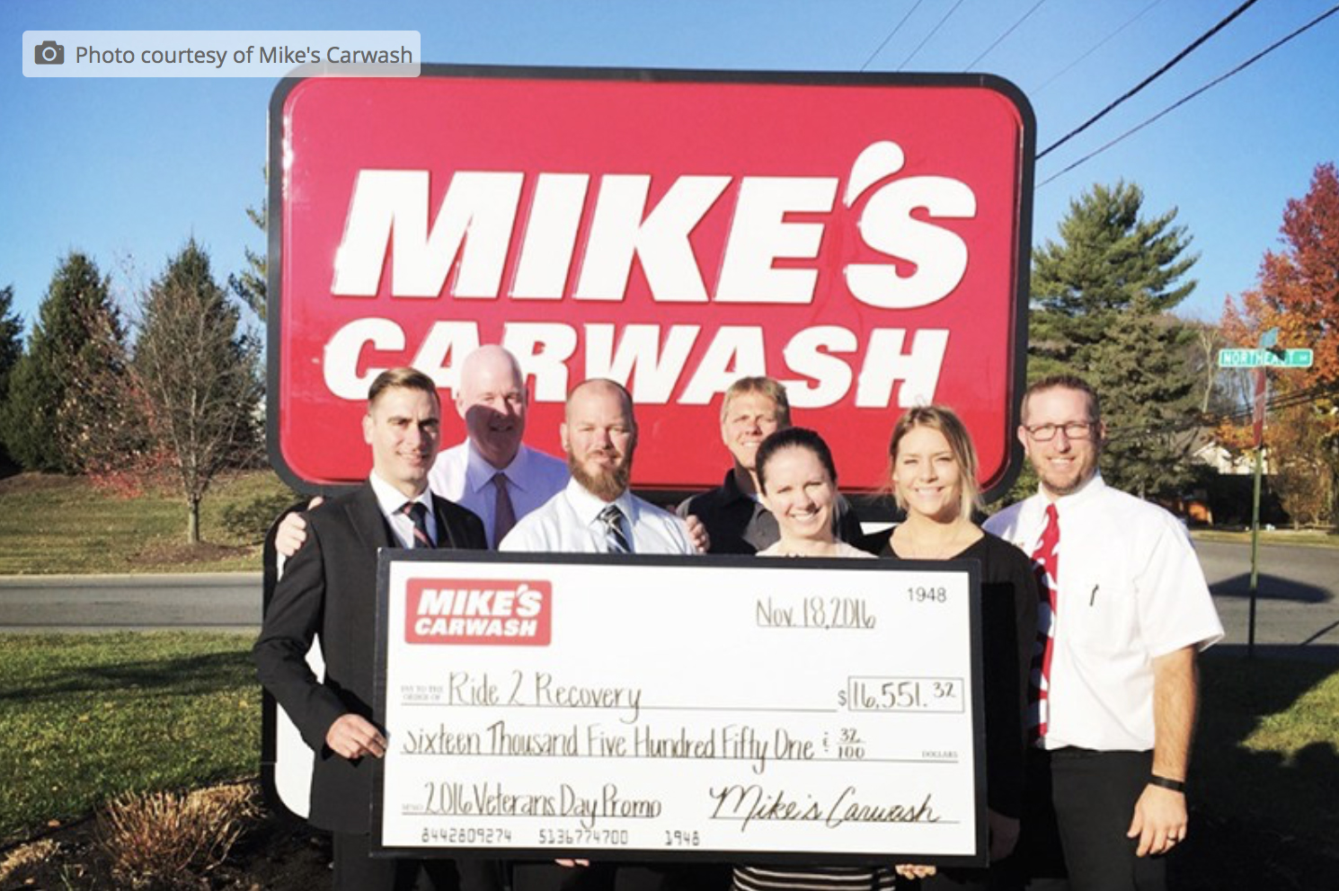 Mike's Carwash raises 16.5K for Ride 2 Recovery