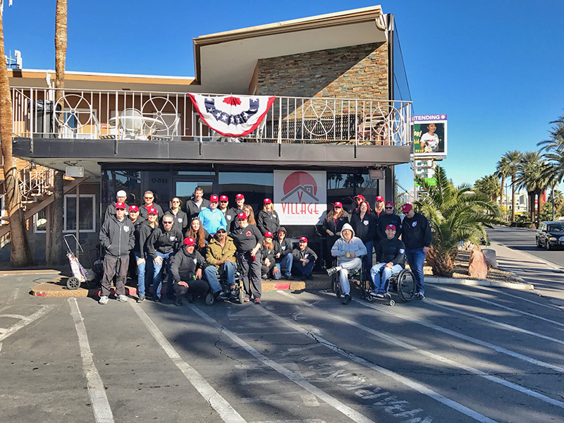 Project Hero Staffers Help Las Vegas Veterans