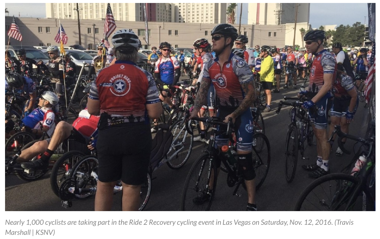 Nearly 1,000 cyclists taking part in Ride 2 Recovery in Las Vegas