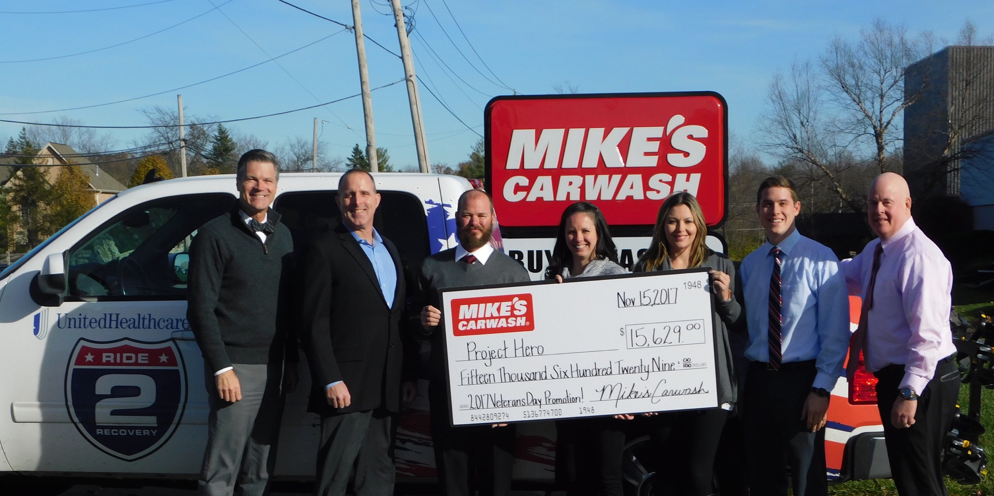 MIKE'S CARWASH donates $15.6K to Project Hero
