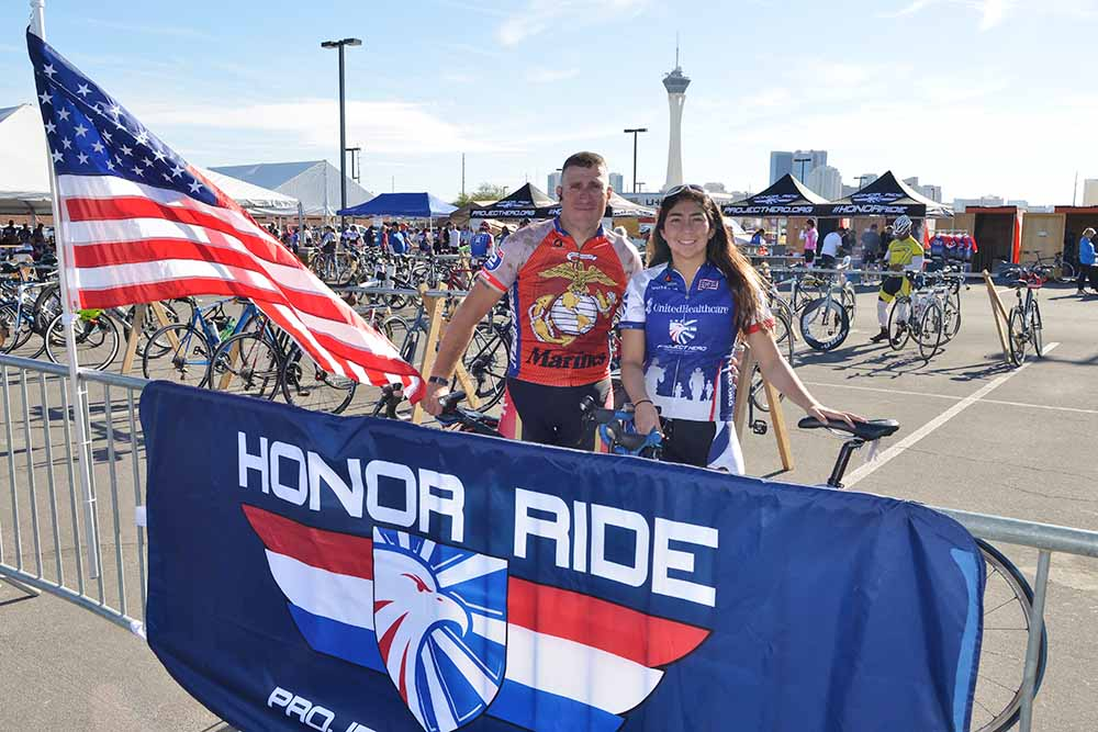 2017 OPTUM HONOR RIDE  HONORS VETERANS DAY  IN LAS VEGAS